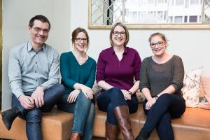 Thomas Mauch, Karin Friedli, Olivia Menzi und Tanja Huber (v.l.n.r.)
