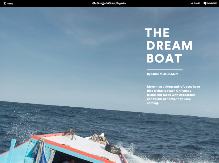 Das New York Times Magazine liefert hier eine Reportage, die vor allem vom Text und den starken Fotos lebt. Das Design passt sich unterschiedlichen Displaygrössen an – je nachdem, ob man auf einem Smartphone, einem Tablet oder am Computer liest. (Screenshot: nytimes.com)