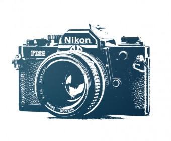 Illustrierte Darstellung einer Fotokamera